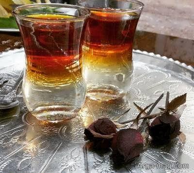 طرز آماده سازی چای دو رنگ با طعم و مزه ای دوست داشتنی