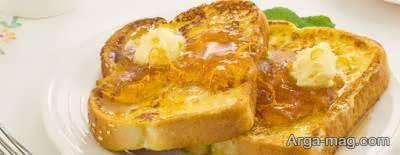 شیوه ی تهیه نان تست فرانسوی برای صبحانه و عصرانه