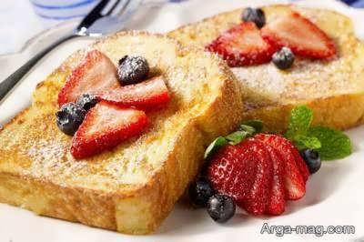 طرز پخت نان تست فرانسوی پرانرژی و سالم
