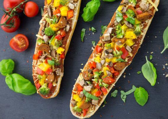آموزش طرز تهیه پیتزا با نان باگت