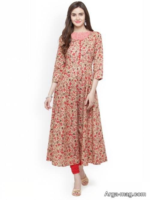 لباس طرح دار هندی