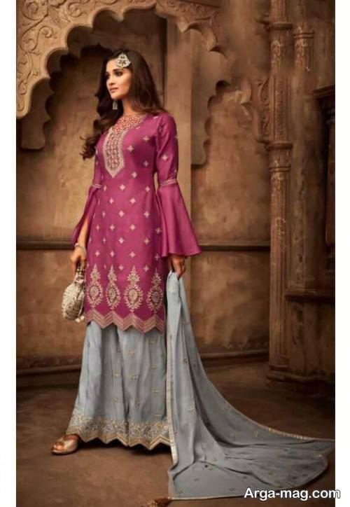 لباس هندوستانی طرح دار