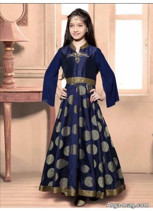 لباس هندی سرمه ای
