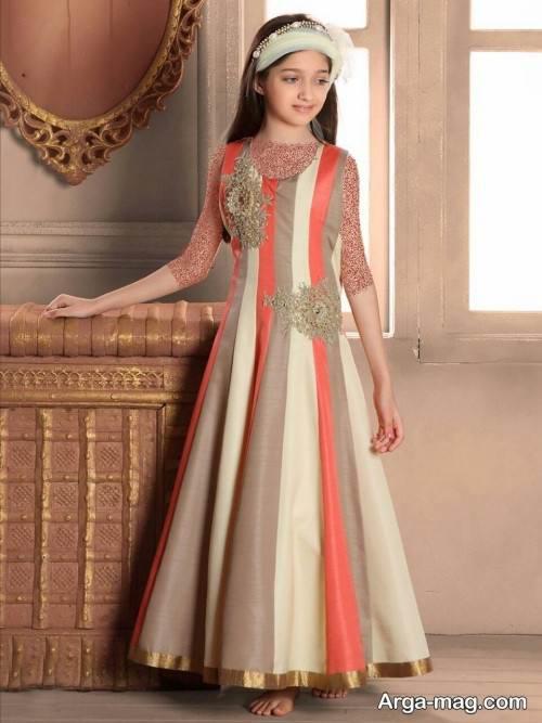 لباس رنگی دخترانه شیک و زیبا