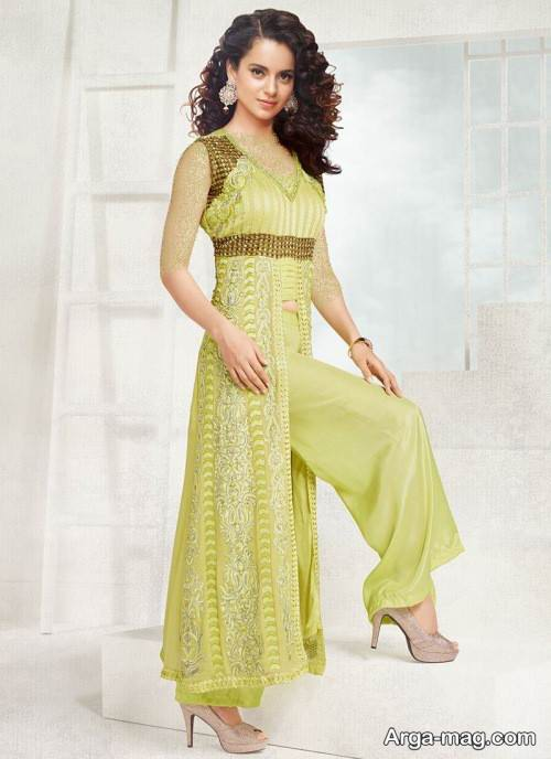 لباس هندی زرد
