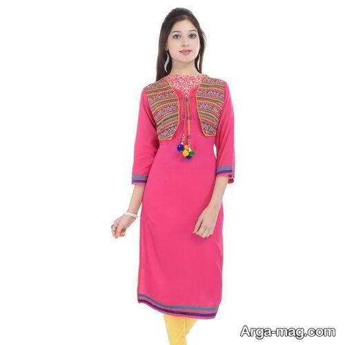 لباس هندی صورتی