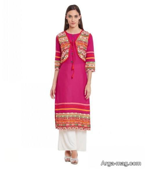 لباس صورتی هندوستانی