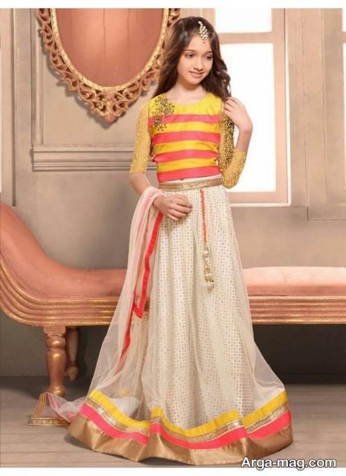 لباس دخترانه هندی با طرح زیبا