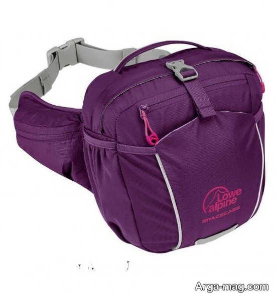 نمونه کیف کمری ورزشی بنفش رنگ