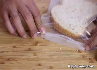 مراحل نگهداری نان