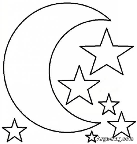 طرح و الگوی آویز ماه و ستاره