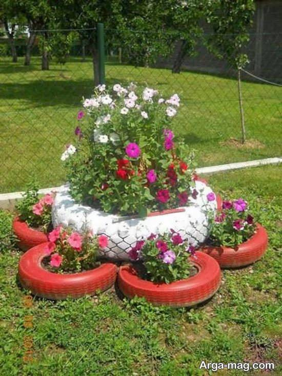 ساخت گلدان لاستیکی زیبا