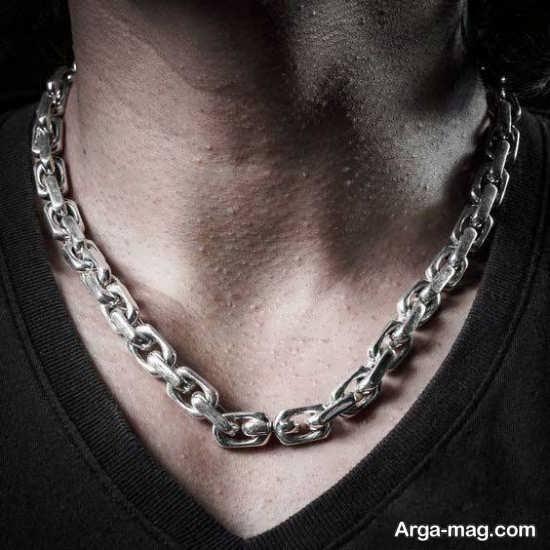 مدل گردنبند مردانه استیل زنجیری