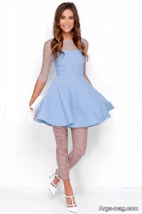 مدل لباس مجلسی آبی روشن