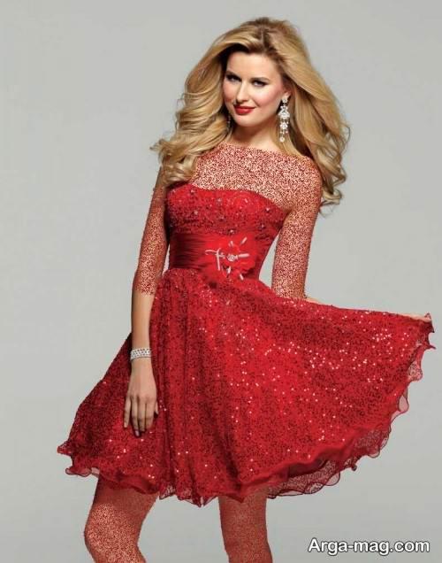 لباس مجلسی قرمز و شیک