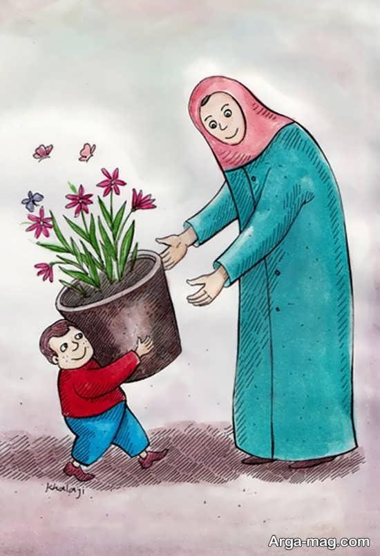 ایده نقاشی درباره مادر