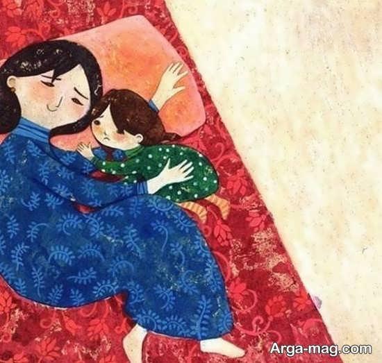 ایده زیبای نقاشی روز مادر