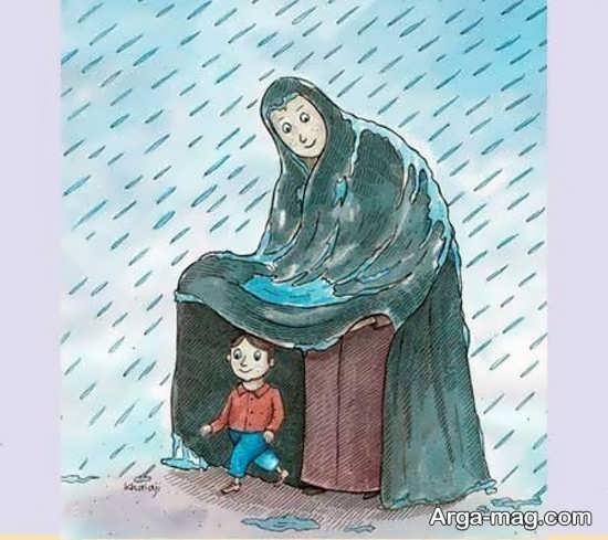 نقاشی جذاب درباره مادر