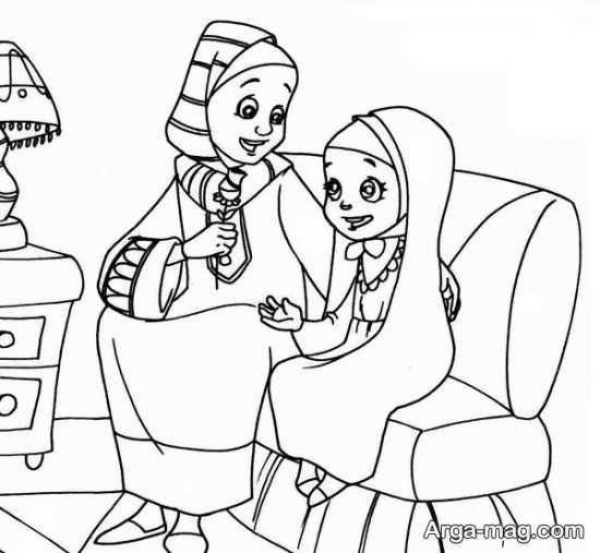 نقاشی روز مادر+تصویر