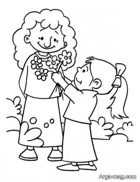 تصویر نقاشی روز مادر