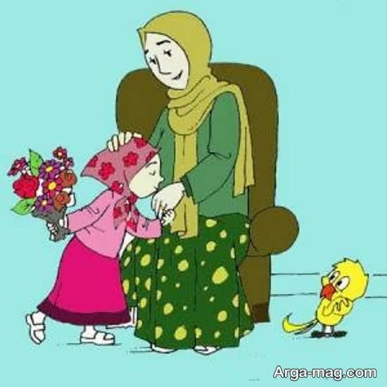 نقاشی روز مادر+عکس