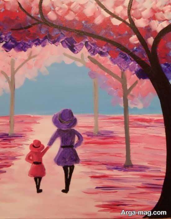 ایده جذاب نقاشی برای مادران