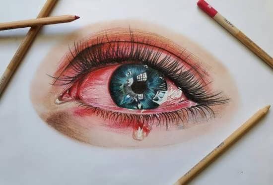 پروفایل چشم با نقاشی زیبا