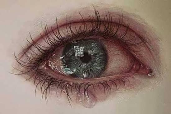 تصویر پروفایل چشم گریان دخترانه
