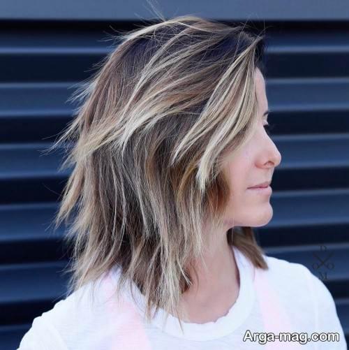 مدل مو نیمه کوتاه