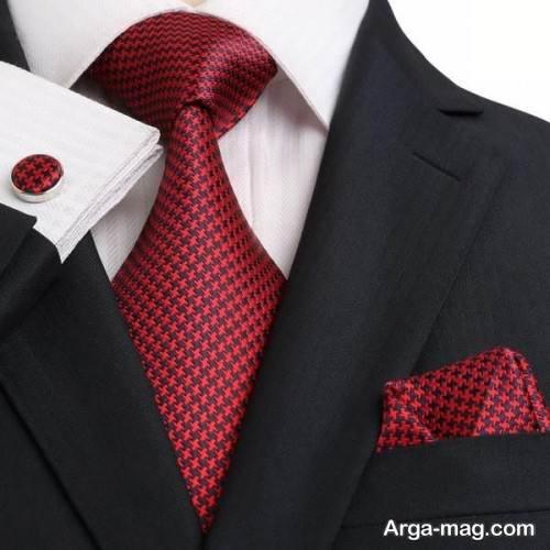 ست کراوات با پیراهن ساده