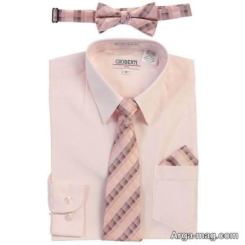 ست زیبا پیراهن با کراوات