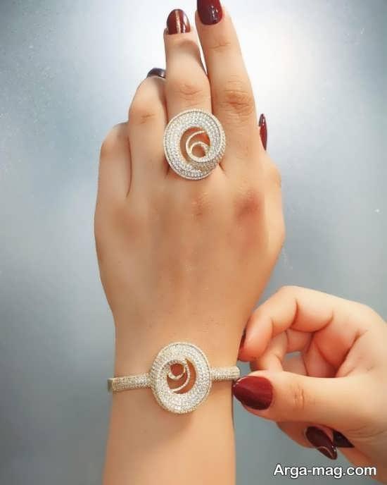 مدل انگشتر و دستبند با طرح زیبا