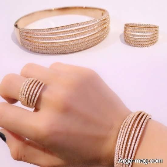 مدلی از دستبند و انگشتر زیبا و شیک