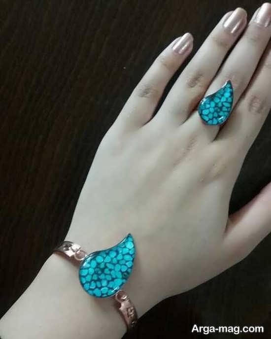 مدل شیک انگشتر و دستبند مسی