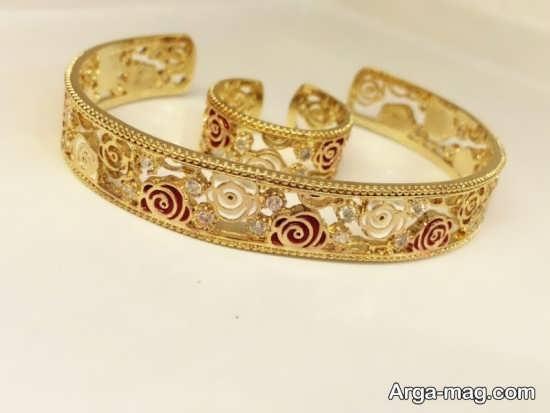 مدل انگشتر و دستبند زیبای زنانه