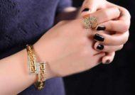 ست انگشتر و دستبند طلا