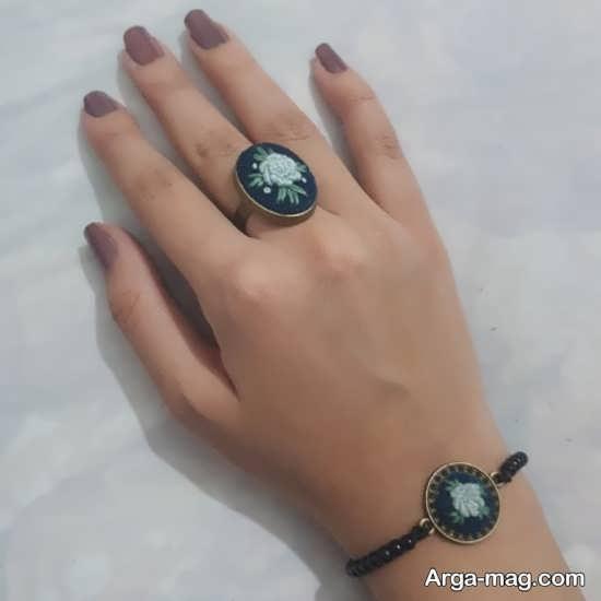مدل زیبای دستبند و انگشتر با طرح زیبا