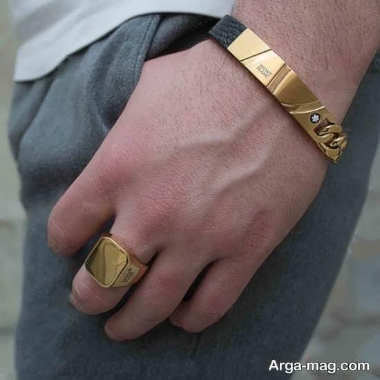مدلی جدید از انگشتر و دستبند مردان