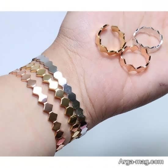 طرح زیبای انگشتر و دستبند