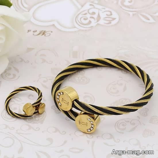 ست انگشتر و دستبند با طرح زیبا