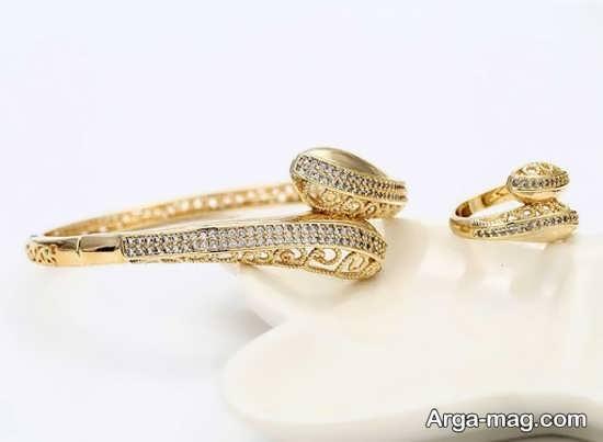 ست انگشتر با دستبند طلا