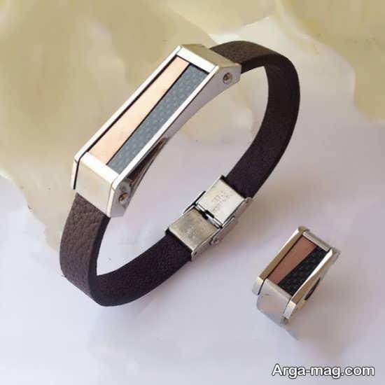 ست انگشتر و دستبند مردانه