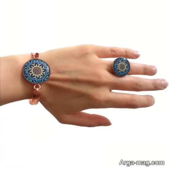 مدل زیبای انگشتر و دستبند زنانه مسی
