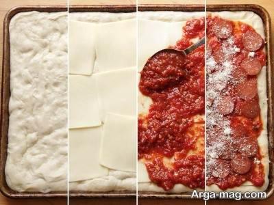 طرز تهیه پیتزا سیسیلی در منزل