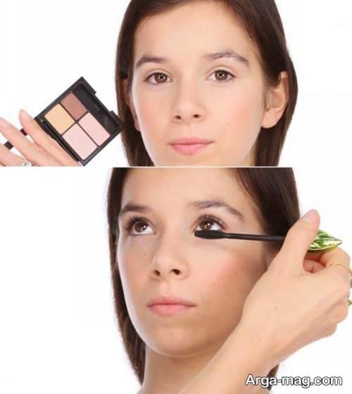 نحوه آرایش چشم دخترانه