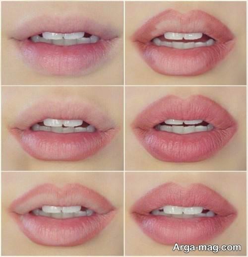 آرایش لب های باریک