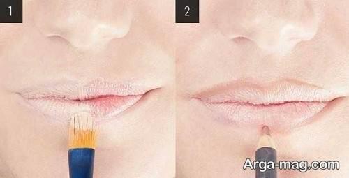 آموزش آرایش لب های نازک