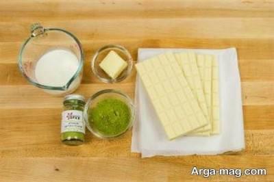 مواد لازم برای تهیه شکلات چای سبز