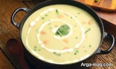 دستو پخت سوپ جو سفید