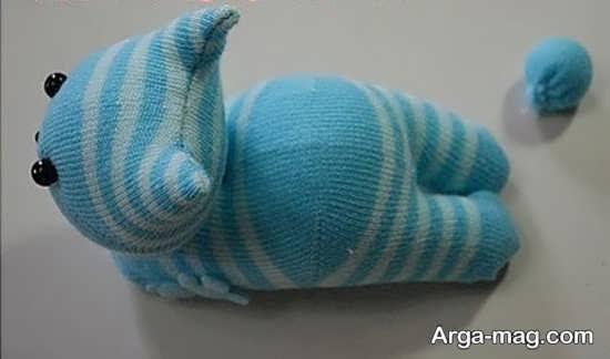 کاردستی با جورابهای نخی